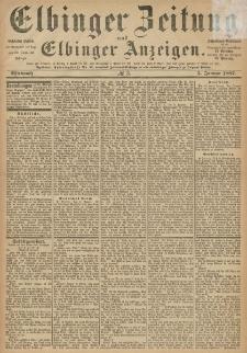 Elbinger Zeitung und Elbinger Anzeigen, Nr. 3 Mittwoch 5. Januar 1887