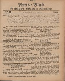 Amts-Blatt der Königlichen Regierung zu Marienwerder, 4. November 1903, No. 44.