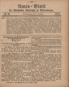 Amts-Blatt der Königlichen Regierung zu Marienwerder, 11. November 1903, No. 45.