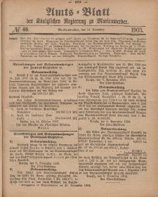 Amts-Blatt der Königlichen Regierung zu Marienwerder, 19. November 1903, No. 46.
