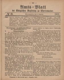 Amts-Blatt der Königlichen Regierung zu Marienwerder, 2. Dezember 1903, No. 48.