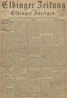 Elbinger Zeitung und Elbinger Anzeigen, Nr. 4 Donnerstag 6. Januar 1887