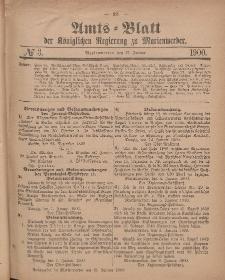 Amts-Blatt der Königlichen Regierung zu Marienwerder, 17. Januar 1900, No. 3.