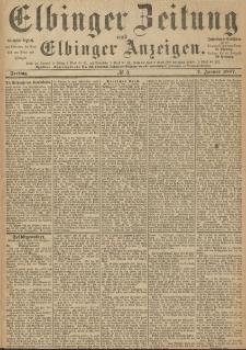 Elbinger Zeitung und Elbinger Anzeigen, Nr. 5 Freitag 7. Januar 1887