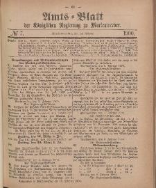 Amts-Blatt der Königlichen Regierung zu Marienwerder, 14. Februar 1900, No. 7.