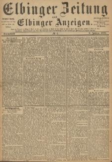 Elbinger Zeitung und Elbinger Anzeigen, Nr. 6 Sonnabend 8. Januar 1887