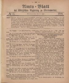 Amts-Blatt der Königlichen Regierung zu Marienwerder, 11. April 1900, No. 15.