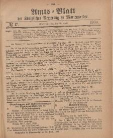 Amts-Blatt der Königlichen Regierung zu Marienwerder, 25. April 1900, No. 17.