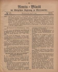 Amts-Blatt der Königlichen Regierung zu Marienwerder, 20. Juni 1900, No. 25.