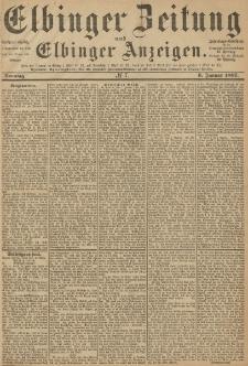 Elbinger Zeitung und Elbinger Anzeigen, Nr. 7 Sonntag 9. Januar 1887