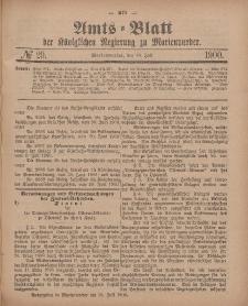 Amts-Blatt der Königlichen Regierung zu Marienwerder, 18. Juli 1900, No. 29.