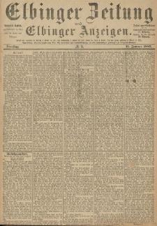 Elbinger Zeitung und Elbinger Anzeigen, Nr. 8 Dienstag 11. Januar 1887