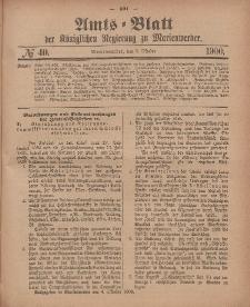 Amts-Blatt der Königlichen Regierung zu Marienwerder, 3. Oktober 1900, No. 40.