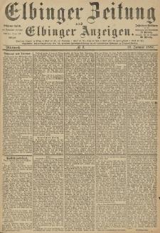 Elbinger Zeitung und Elbinger Anzeigen, Nr. 9 Mittwoch 12. Januar 1887