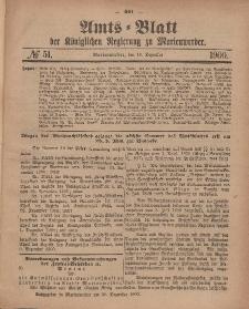 Amts-Blatt der Königlichen Regierung zu Marienwerder, 19. Dezember 1900, No. 51.