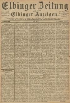 Elbinger Zeitung und Elbinger Anzeigen, Nr. 10 Donnerstag 13. Januar 1887
