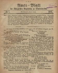 Amts-Blatt der Königlichen Regierung zu Marienwerder, 2. Januar 1901, No. 1.