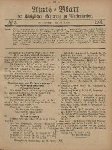 Amts-Blatt der Königlichen Regierung zu Marienwerder, 30. Januar 1901, No. 5.