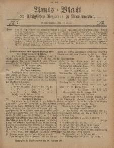 Amts-Blatt der Königlichen Regierung zu Marienwerder, 13. Februar 1901, No. 7.