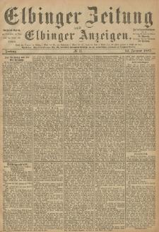 Elbinger Zeitung und Elbinger Anzeigen, Nr. 11 Freitag 14. Januar 1887