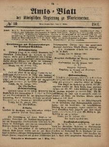 Amts-Blatt der Königlichen Regierung zu Marienwerder, 6. März 1901, No. 10.
