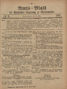 Amts-Blatt der Königlichen Regierung zu Marienwerder, 13. März 1901, No. 11.