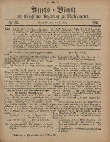 Amts-Blatt der Königlichen Regierung zu Marienwerder, 20. März 1901, No. 12.