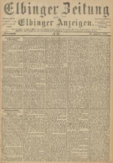 Elbinger Zeitung und Elbinger Anzeigen, Nr. 12 Sonnabend 15. Januar 1887