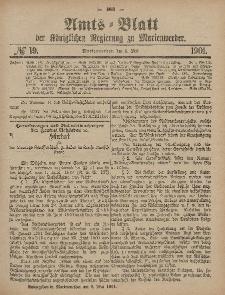 Amts-Blatt der Königlichen Regierung zu Marienwerder, 8. Mai 1901, No. 19.