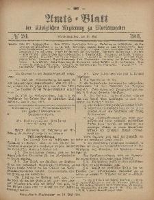 Amts-Blatt der Königlichen Regierung zu Marienwerder, 15. Mai 1901, No. 20.