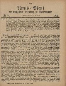 Amts-Blatt der Königlichen Regierung zu Marienwerder, 22. Mai 1901, No. 21.
