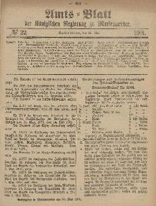 Amts-Blatt der Königlichen Regierung zu Marienwerder, 29. Mai 1901, No. 22.