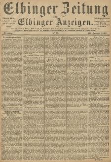 Elbinger Zeitung und Elbinger Anzeigen, Nr. 13 Sonntag 16. Januar 1887