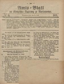 Amts-Blatt der Königlichen Regierung zu Marienwerder, 31. Juli 1901, No. 31.
