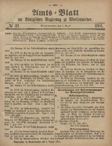 Amts-Blatt der Königlichen Regierung zu Marienwerder, 7. August 1901, No. 32.