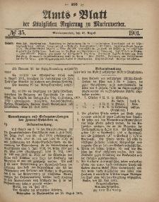 Amts-Blatt der Königlichen Regierung zu Marienwerder, 28. August 1901, No. 35.