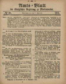 Amts-Blatt der Königlichen Regierung zu Marienwerder, 18. September 1901, No. 38.