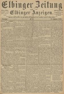Elbinger Zeitung und Elbinger Anzeigen, Nr. 14 Dienstag 18. Januar 1887