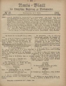 Amts-Blatt der Königlichen Regierung zu Marienwerder, 2. Oktober 1901, No. 40.