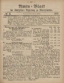 Amts-Blatt der Königlichen Regierung zu Marienwerder, 9. Oktober 1901, No. 41.