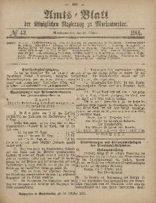 Amts-Blatt der Königlichen Regierung zu Marienwerder, 23. Oktober 1901, No. 43.