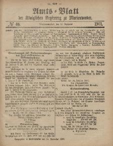 Amts-Blatt der Königlichen Regierung zu Marienwerder, 13. November 1901, No. 46.