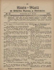 Amts-Blatt der Königlichen Regierung zu Marienwerder, 21. November 1901, No. 47.