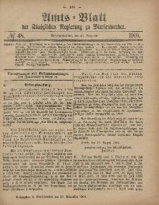 Amts-Blatt der Königlichen Regierung zu Marienwerder, 27. November 1901, No. 48.