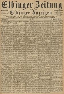 Elbinger Zeitung und Elbinger Anzeigen, Nr. 15 Mittwoch 19. Januar 1887