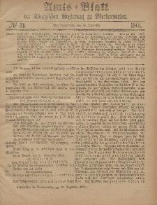 Amts-Blatt der Königlichen Regierung zu Marienwerder, 18. Dezember 1901, No. 51.