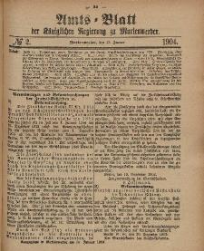 Amts-Blatt der Königlichen Regierung zu Marienwerder, 13. Januar 1904, No. 2.