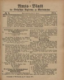 Amts-Blatt der Königlichen Regierung zu Marienwerder, 20. Januar 1904, No. 3.