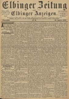 Elbinger Zeitung und Elbinger Anzeigen, Nr. 16 Donnerstag 20. Januar 1887