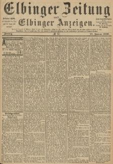 Elbinger Zeitung und Elbinger Anzeigen, Nr. 17 Freitag 21. Januar 1887
